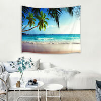 Wall Hanging Tapestry Table Cloth sheet Bedspread Beach Coast Palm Tree Scenery