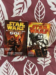 2x Star Wars Novels: 501st & Order 66 By Karen Travis -Sci-Fi/Fantasy- Paperback