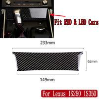 Carbon Fiber Interior Central Control Cover Trim For Lexus IS250 IS300H 2013-17