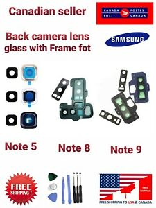 Back Camera Lens Glass / Frame replacement for Samsung Galaxy Note 8 Note 9.,.