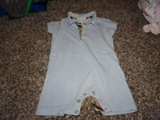 BURBERRY 12M 12 MONTHS BLUE ROMPER OUTFIT BOYS