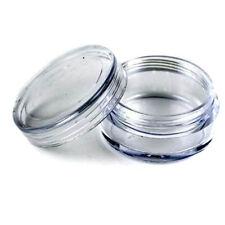 50Pcs Transparent Empty Plastic Cosmetic Sample Small Pots Container