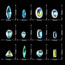 Nail Art AB Crystal Rhinestone Gems Glitter 3D Tips Wheel Decoration Accessories