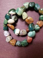 Tumbled stone bracelet Fancy Jasper Beaded Stretch Bracelet About 10 mm Stones