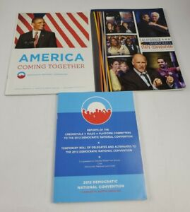 Democratic National Convention Books/ Magazines 2012 & 2015 Lot Of 3