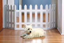 Folding Picket Pet Fence - Home / Indoor / Outdoor Expanding Dog Safety Gate