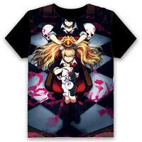 Unisex T-shirt Danganronpa Ikusaba Mukuro Casual Anime Tops Tee Short Sleeve