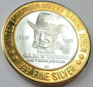 1993 .999 Fine Silver Sam's Town Casino Pony Express Round Silver Strike Coin