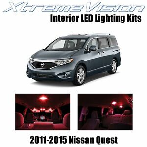 XtremeVision Interior LED for Nissan Quest 2011-2015 (8 PCS) Red