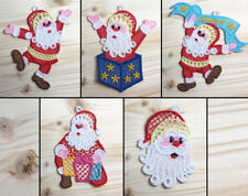 Santa Claus Pack 1 Machine Embroidered Lace Ornaments