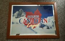 """Molson Canadian Lager sign- 26""""H x 35""""W"""