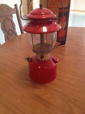 VINTAGE COLEMAN 200A RED SINGLE MANTLE LANTERN DATED 6-1965