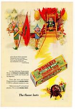 1928 Wrigley's Double Mint Gum Ad: King Spear's Proclamation - Great Coloration!