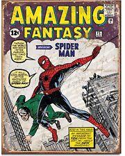 Spider-man NO. 1 comic cover Metal Tin Sign Vintage Retro Wall home Decor new