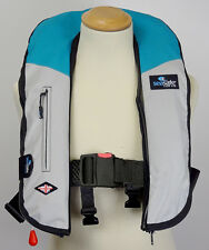 Automatic Two Tone Teal Grey LifeJacket