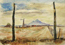 """Gate Post Study""  by Pete Hurd"