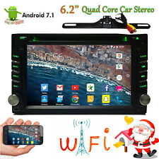 Android 7.1 Double Din Car Stereo Radio GPS Wifi 4G OBD2 HD Mirror Link BT DVD