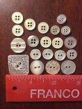 Lot Of 20 Beige Resin Buttons In Shapes And Sizes Shown  - Lot 8