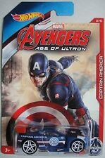HOT WHEELS AVENGERS AGE OF ULTRON CAPTAIN AMERICA POWER RAGE FREE SHIPPING