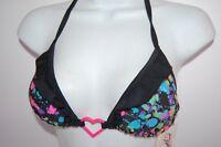 Women's NWT HOT TOPIC one piece top bikini size LARGE black hot pink string
