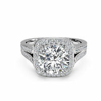 Brilliant Cut 1.24 ct Natural Diamond Rings Solid 14kt White Gold Ring PONVY