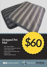 Large Striped Pet Mat W/Removable Cover Slate 100x80cm (BRAND NEW)