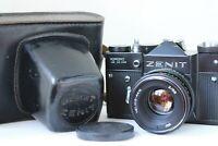 Zenit TTL SLR 35mm film camera Helios 44m lens