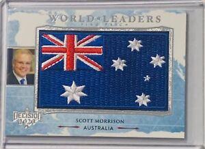 2020 DECISION FLAG PATCH SILVER FOIL SCOTT MORRISON PRIME MINISTER AUSTRALIA rc