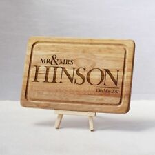 Personalised Mr and Mrs Wedding Chopping Board Anniversary Gift (Type A)