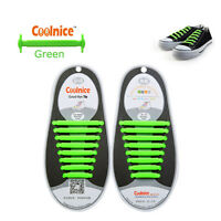 Colored No Tie Elastic Shoe Laces 100% Silicone Trainers Adult Kids Shoelaces