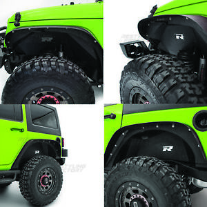Restyling Factory Black Front+Rear Inner Fender Liner for 07-18 Jeep Wrangler JK