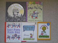KEVIN HENKES LOT 5~Caldecott~FULL MOON~Lilly Purse Big Day~Chrysanthemum~Sheila~