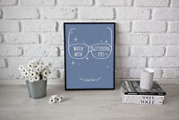 Watch With Glittering Eyes Roald Dahl Quote From The Minpins Bedroom Art Print