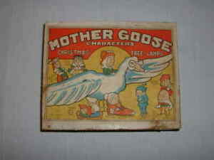 Japanese 1936 Mother Goose Characters Christmas Tree Lamps with Box