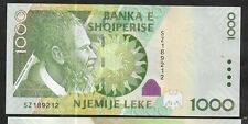More details for albania - 1000 lek 2011 series, now replaced, so getting scarce. perfect, unc
