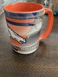 Officially Licensed NFL Denver Broncos Team Rally Coffee Mug, 15 oz