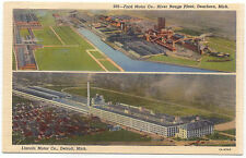 Ford and Lincoln Factory View original Postcard