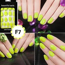 24pcs Nail Tip Artificial False Acrylic Design Fake French Full Nails Art SetE5T