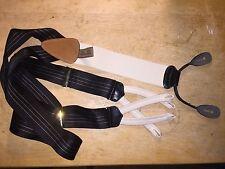 TRAFALGAR Black White Suspender Belt Braces