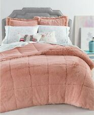 Whim by Martha Stewart Collection Shaggy Faux Fur King 3-Pc Comforter Set Pink