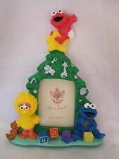 Sesame Street Christmas Baby Picture Frame Elmo Big Bird New In Box