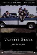 VARSITY BLUES Movie POSTER 27x40 James Van Der Beek Jon Voight Paul Walker Ron