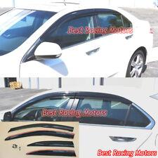 Mu-gen Style Side Window Visors + Clips Fits 09-14 Acura TSX 4dr