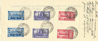 RARE 1931 ITALY STAMP #'s 265-267 W LIVORNO CANCELS ON PHOENIX INSURANCE PAPER