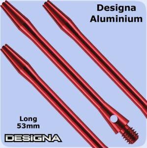 Extra Long Aluminium Dart Stems 60mm Red Shafts