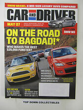 """Car and Driver Magazine  May  2007   Friday Night """"heads-Up""""  Drags In Oregon"""