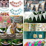 Glitter Paper Happy Birthday Bunting Banner Flag Garland Party Hanging Decor