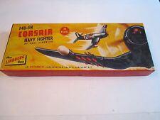 VINTAGE F4U-5N CORSAIR NAVY FIGHTER PLANE BY LINDBERG IN THE ORIGINAL BOX - BB-1