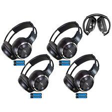 4 Fold In Wireless Infrared Dvd Rear Headphones Headset For Pickup Truck Van Toy