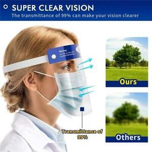 2 x Full Face Covering Visor Mask Shield Protection Reusable Splash Guard Safety
